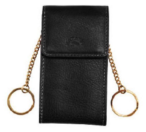 Porte-clés Katana K 153025 Cuir de Vachette gras - Noir