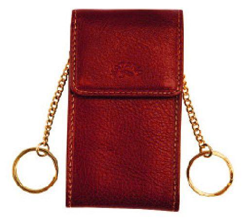 Porte-clés Katana K 153025 Cuir de Vachette gras - Rouge