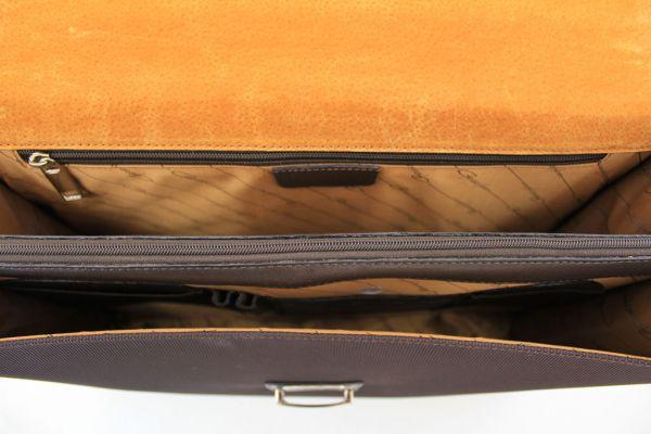 Cartable Gérard Henon New Styl'  GH 2326 Nylon garni cuir de Vachette