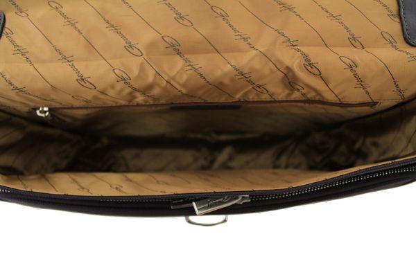 Cartable Gérard Henon New Styl' GH 2327 Nylon garni cuir de Vachette