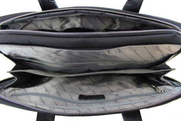 Sacoche / porte-ordinateur Gérard Henon New Styl'  GH 2381 Nylon garni cuir de Vachette