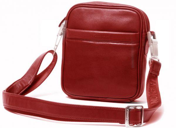 Pochette Gérard Henon Soft line GH 2553  Cuir de Vachette lisse souple - Rouge