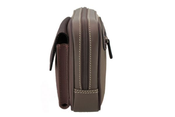 Pochette Gérard Henon Polo GH 2801 Nylon garni cuir de Vachette - Profil