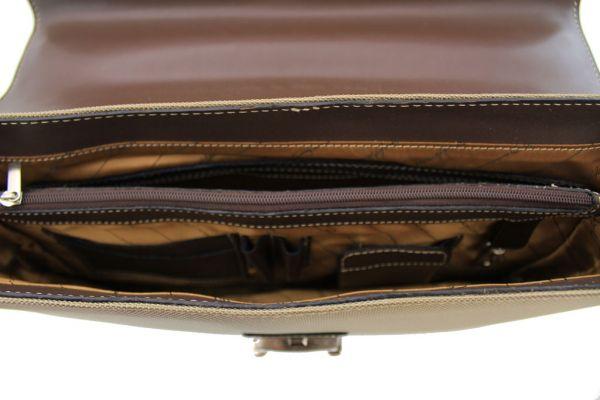 Cartable Gérard Henon Polo  GH 2825 Nylon garni cuir de Vachette