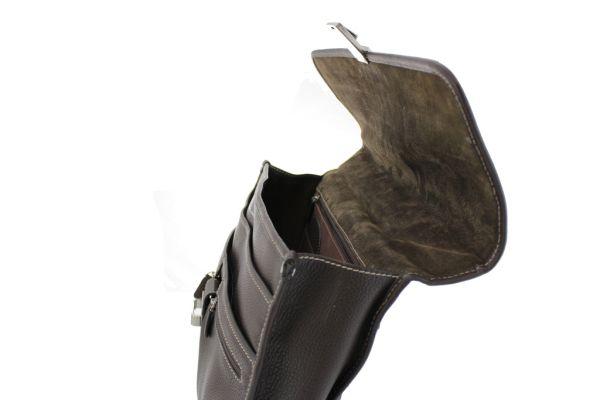 Cartable Gérard Henon cuir de vachette grainé 2925 ouvert