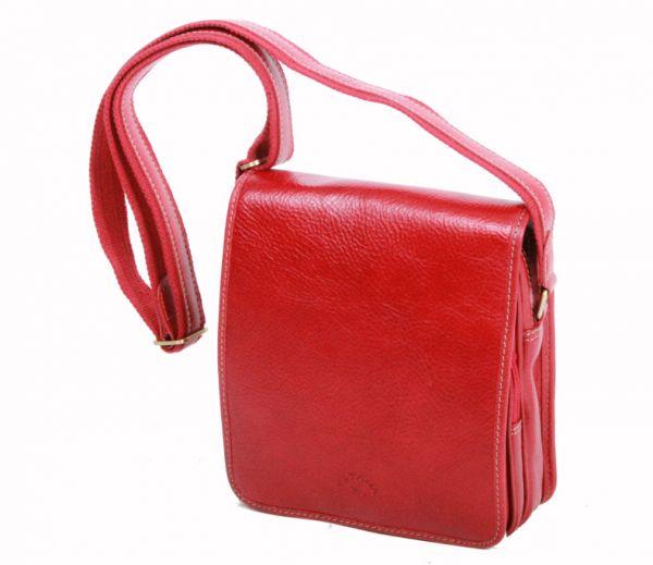 Besace Katana en cuir de Vachette gras K 32578 -  Rouge