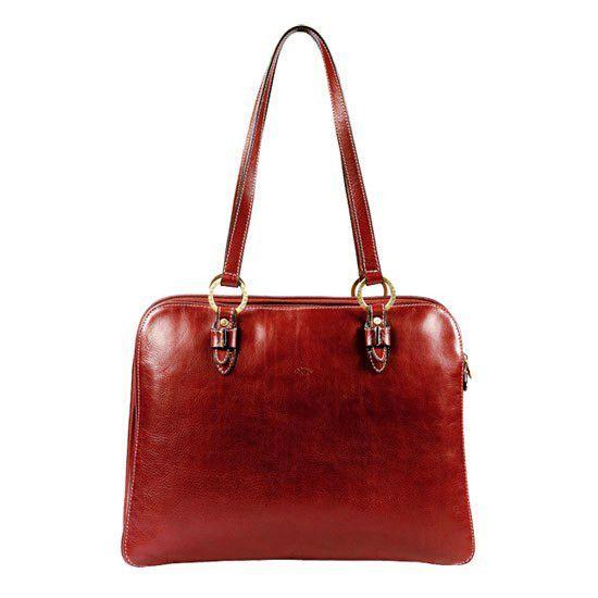 Sac shopping Katana K 32596 Cuir de Vachette gras - Rouge