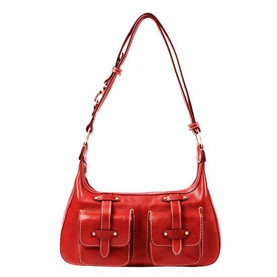 Sac à main Katana en cuir de Vachette K 32603 - Rouge