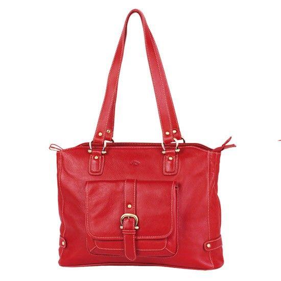 Sac shopping Katana K 32907 Cuir de Vachette gras - Rouge