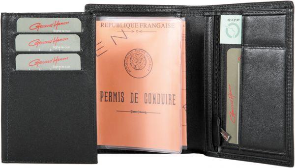 Porte-feuille Gérard Henon GH 33514  Cuir de Vachette souple lisse