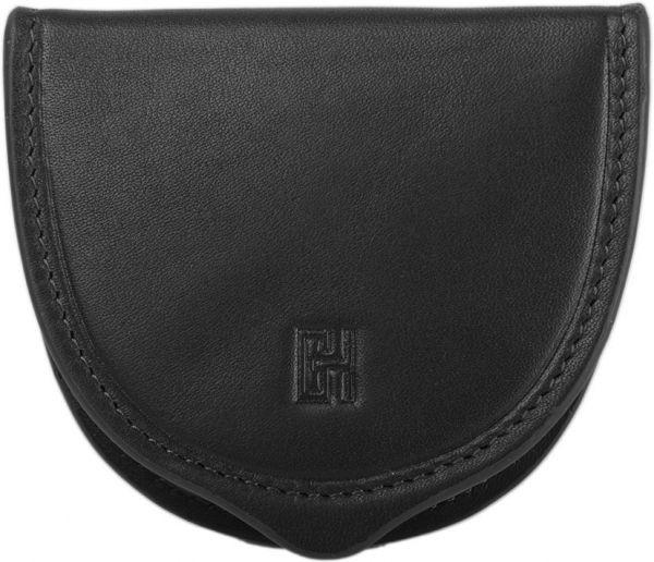 Porte-monnaie Softline GH 33532 Cuir de Vachette Lisse - Noir