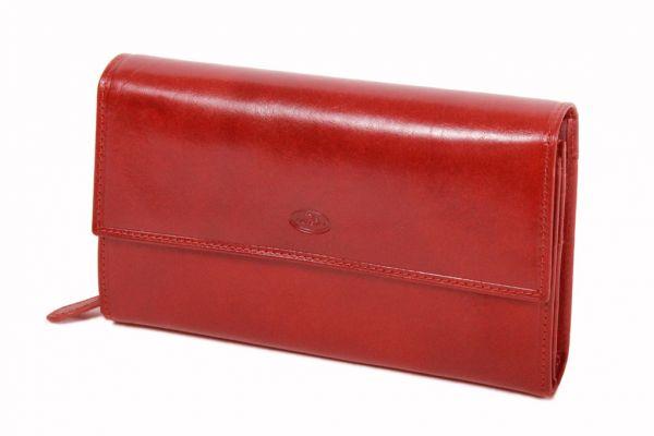 Compagnon / Porte-chéquier Katana K353050 Cuir de Vachette Collet  - Rouge