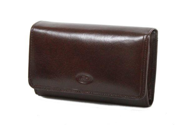 Porte-feuille Femme K353105 Cuir de Vachette Collet Katana - Chocolat