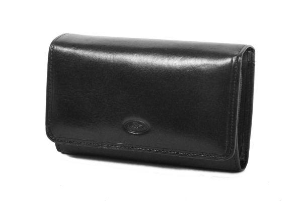 Porte-feuille Femme K353105 Cuir de Vachette Collet Katana - Noir