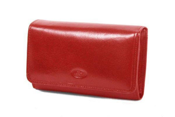 Porte-feuille Femme K353105 Cuir de Vachette Collet Katana - Rouge
