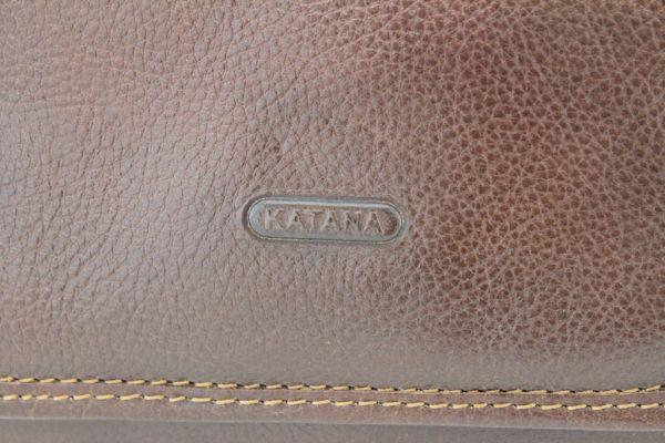 Pochette à rabat Katana K 36102 Cuir de Vachette gras