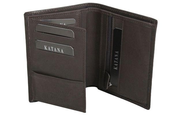 Porte-feuille Katana cuir de Vachette souple gras K 653046