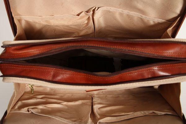 Porte-document Katana en Cuir de Vachette Collet Végétal 66808