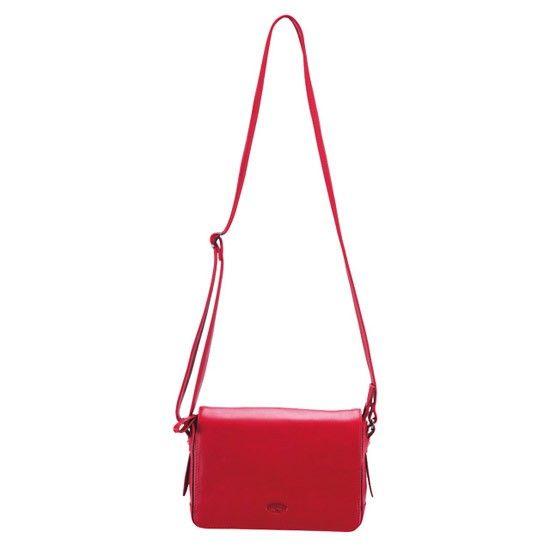 Besace Katana K 66912 Cuir de Vachette lisse - Rouge