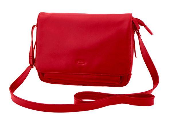 Besace Katana K 66913 Cuir de Vachette lisse - Rouge