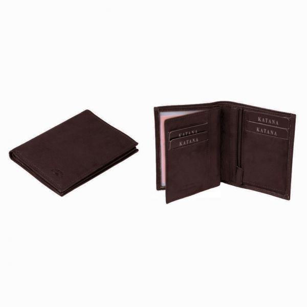 Porte-feuille Katana K 753046 Cuir de Vachette sauvage -Chocolat