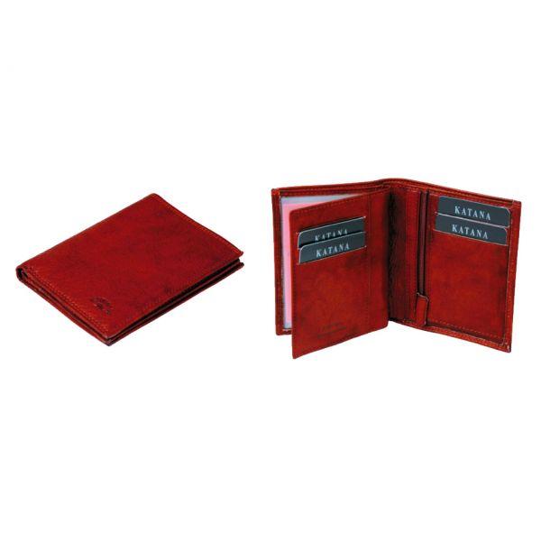 Porte-feuille Katana K 753046 Cuir de Vachette sauvage - Rouge