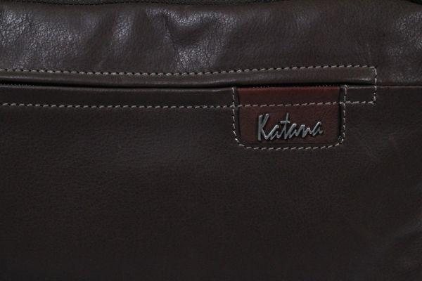 Porte-ordinateur Katana K 81670 Cuir de Vachette sauvage - Choco