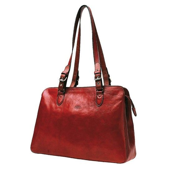 Sac shopping Katana K 82365  Cuir de Vachette collet - Rouge