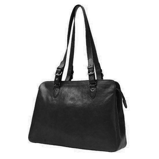 Sac shopping Katana K 82365  Cuir de Vachette collet - Noir