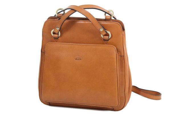 Sac à dos / sac à main Katana K82372 Cuir de Vachette collet face
