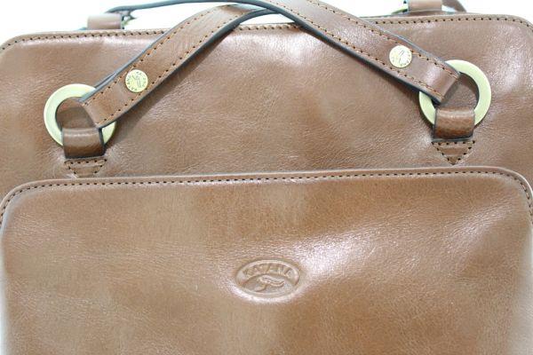 Sac à dos / sac à main Katana K82372 Cuir de Vachette collet détail 2