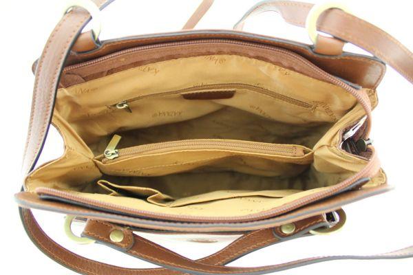 Sac à dos / sac à main Katana K82372 Cuir de Vachette collet ouvert