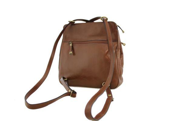 Sac à dos / sac à main Katana K82372 Cuir de Vachette collet dos