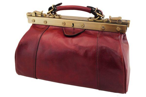 Sac Diligence Katana K 8250 Cuir de Vachette Collet - Rouge