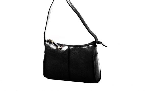 Sac à main/ Besace Katana en cuir de Vachette collet K 82515 -Noir