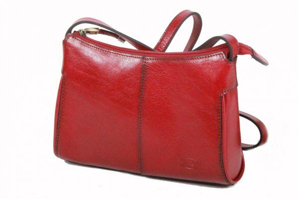 Sac à main/ Besace Katana en cuir de Vachette collet K 82515 - Rouge