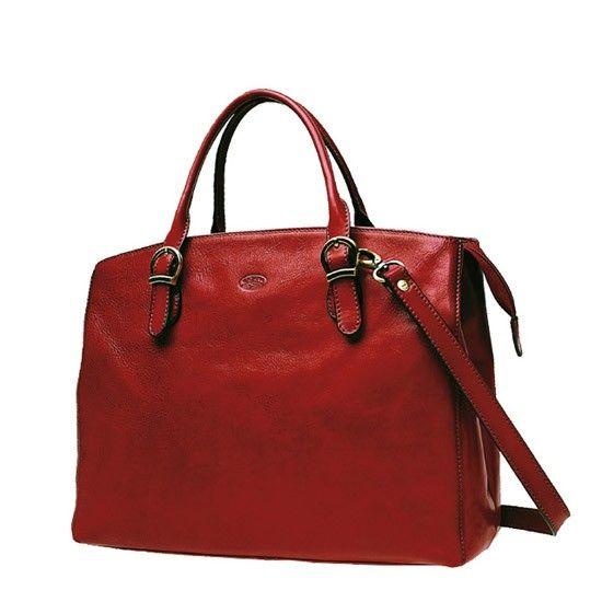 Sac shopping Katana K 82534 Cuir de Vachette collet - Rouge