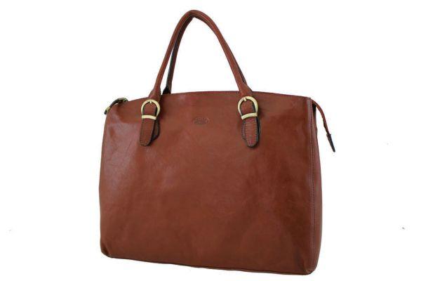 Sac shopping Katana K 82534 Cuir de Vachette collet - Marron