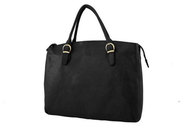 Sac shopping Katana K 82534 Cuir de Vachette collet - Noir