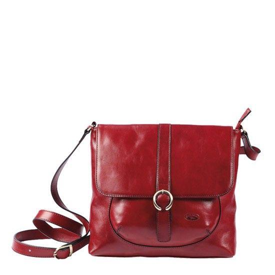 Besace Katana en cuir de Vachette collet K 82632 - Rouge