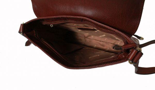 Besace Katana en cuir de Vachette collet K 82632 - Intérieur