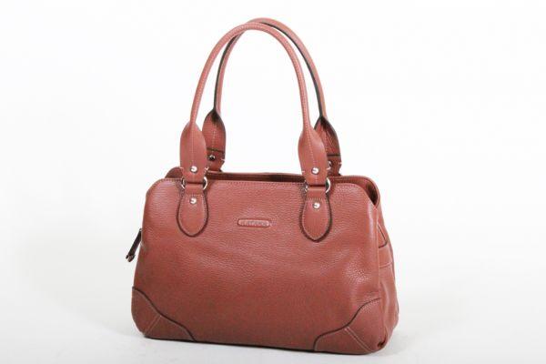 Sac Shopping Katana Cuir de Vachette grainé K 83502 - Marron