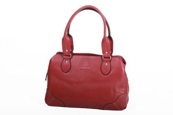 Sac Shopping Katana Cuir de Vachette grainé K 83502 - Rouge