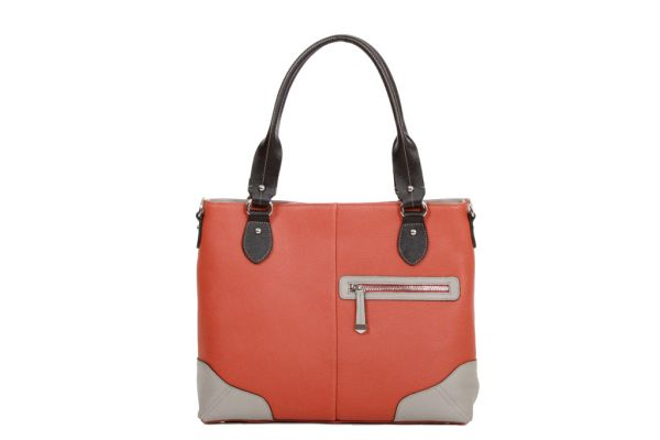 Sac Shopping Katana Cuir de Vachette grainé K 83504 orange