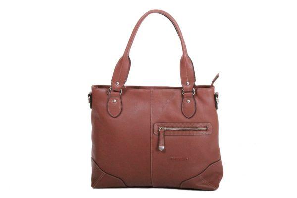 Sac Shopping Katana Cuir de Vachette grainé K 83504 marron