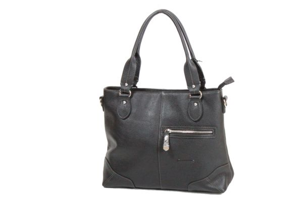 Sac Shopping Katana Cuir de Vachette grainé K 83504 noir