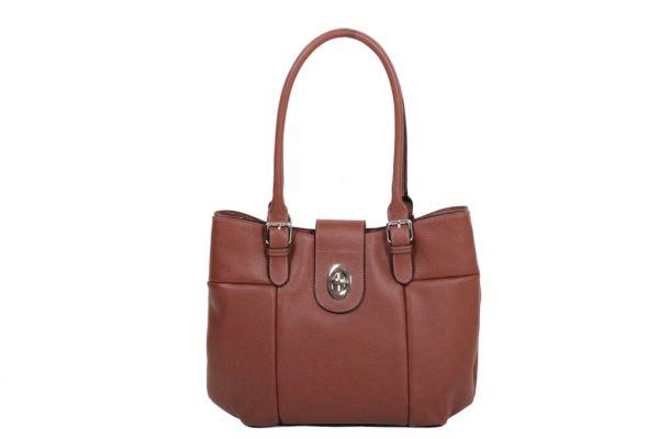 Sac shopping Katana Cuir de Vachette grainé K 83508 marron