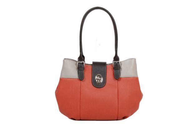 Sac shopping Katana Cuir de Vachette grainé K 83508 orange