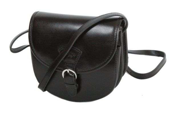 Besace Katana Cuir de Vachette collet K 98221 Noir