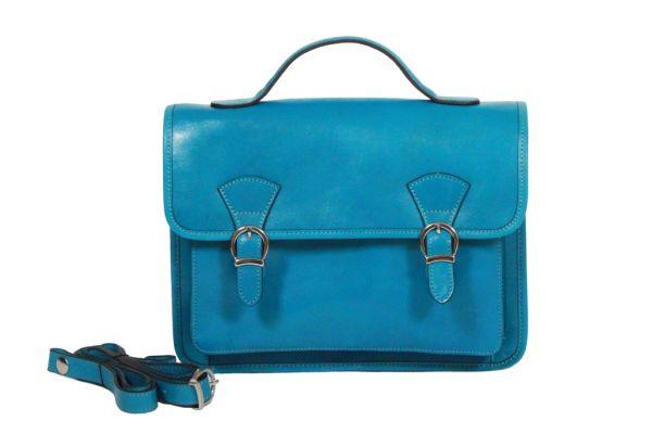 Cartable Katana Cuir de Vachette collet K 98225 bleu
